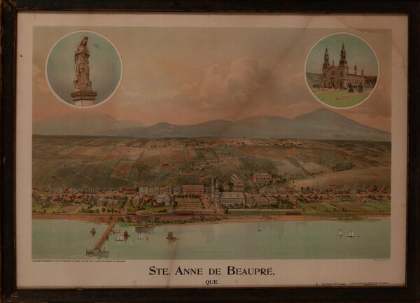 Ste Anne de Beaupre Canada, Antique Print