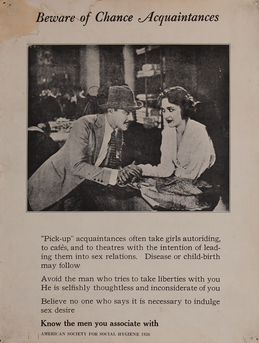 Beware of Chance Acquaintances, American Society for Social Hygiene VD  Poster | David Pollack Vintage Posters