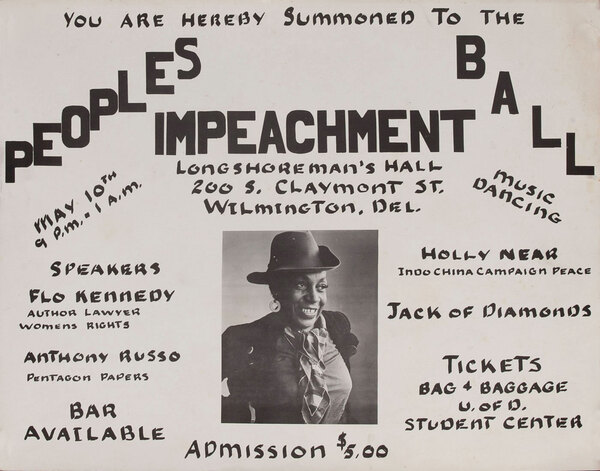 You are Hearby Summoned to the Peoples Impeachment Ball Protest Poster
