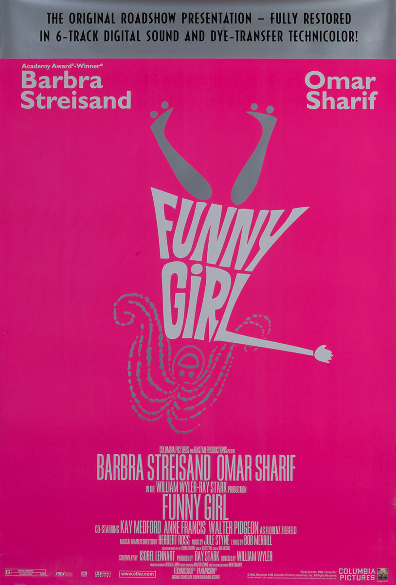 Funny Girl, 1996 rerelease Mobvie poster