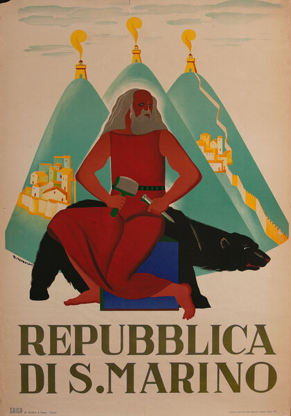 Repubblica di S. Marino, Travel  Poster - Republic of San Marino