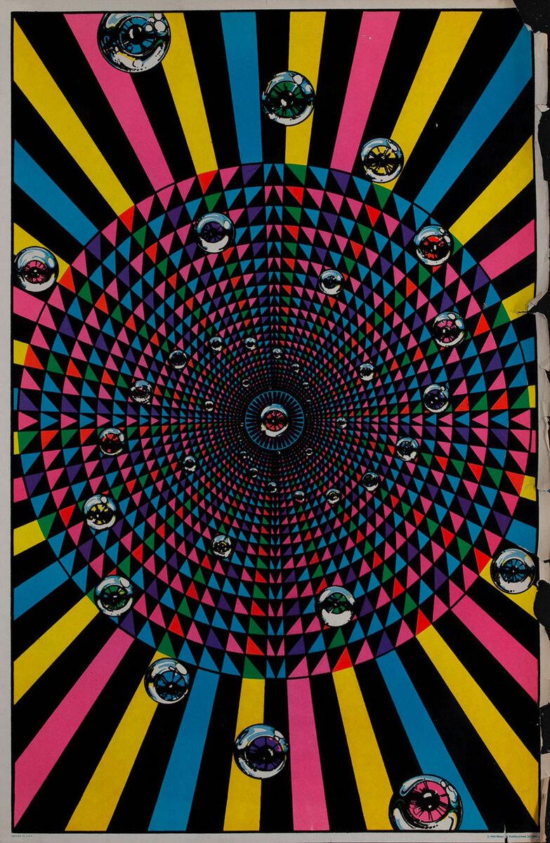 Original Black Light poster eyeballs