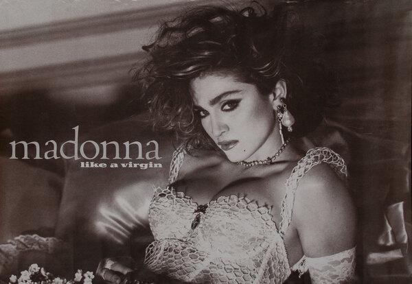 madonna Like a Virgin Poster