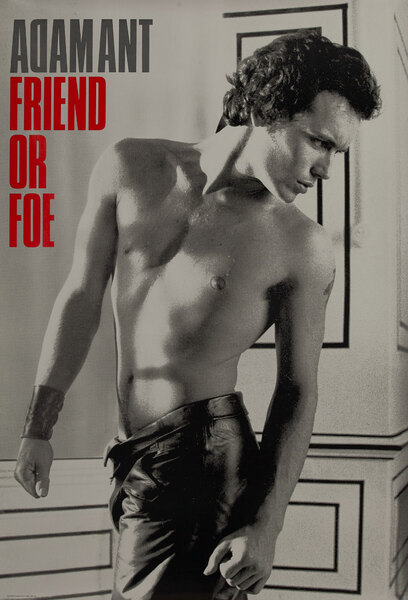 Adam Ant Friend or Foe, Rock Poster
