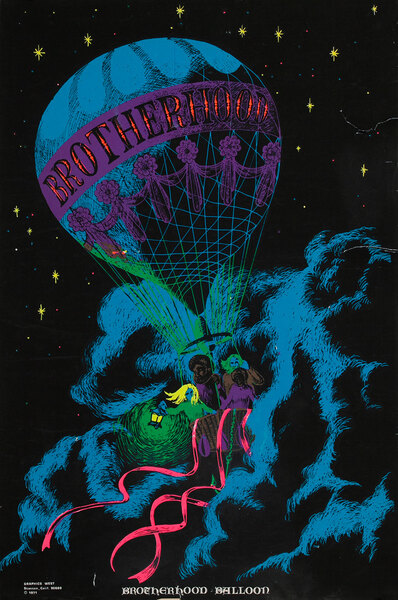 Brotherhood Ballon Psychedelic Blacklight Poster