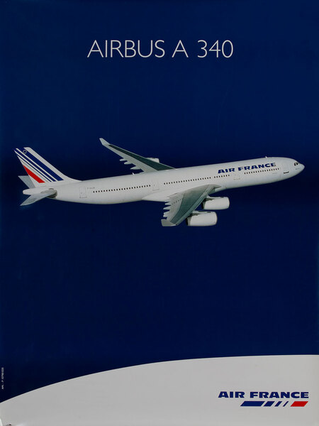 Air France Airbus A 340 Poster