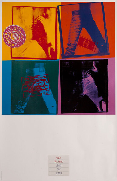 Andy Warhol Levi's 501 Jeans -Advertising Poster