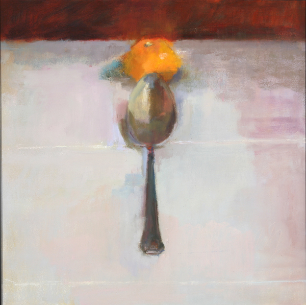 Spoon and Orange - Oil Painting