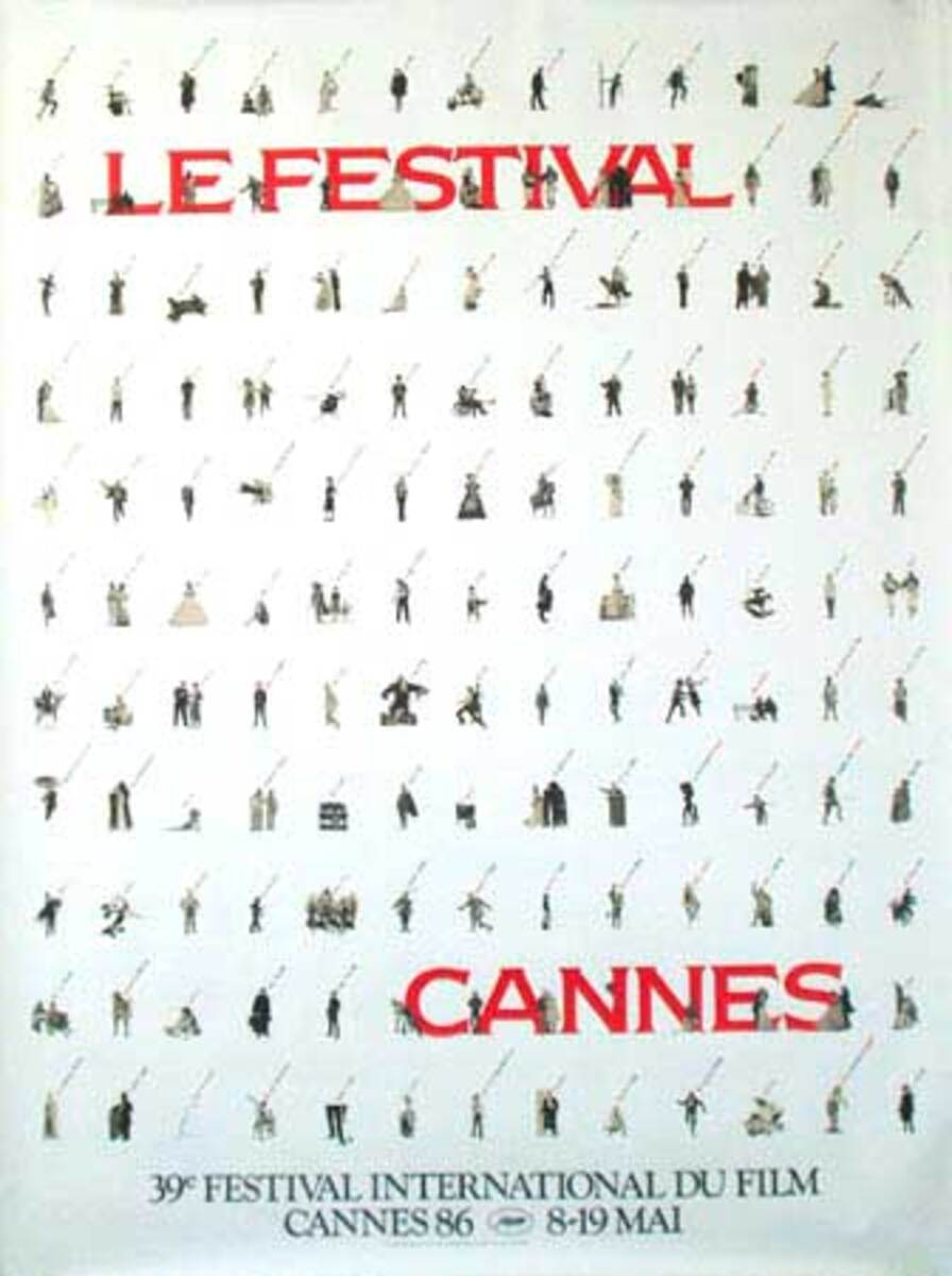 Cannes Film Festival Original Vintage Movie Poster 1986