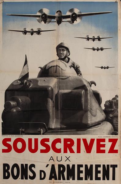 Souscrivesz Aux Bons d'Armement, French WWII Poster