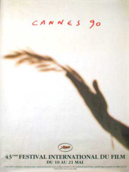 Cannes Film Festival Original Vintage Movie Poster 1990