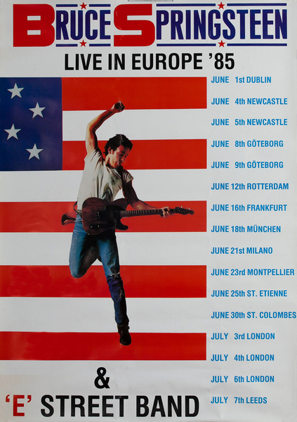 Bruce Springsteen Live in Europe '85 Tour Poster