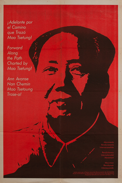Forward Along the Path Chartered by Mao Tsetung! Revolutionary Communist Party, USA Poster