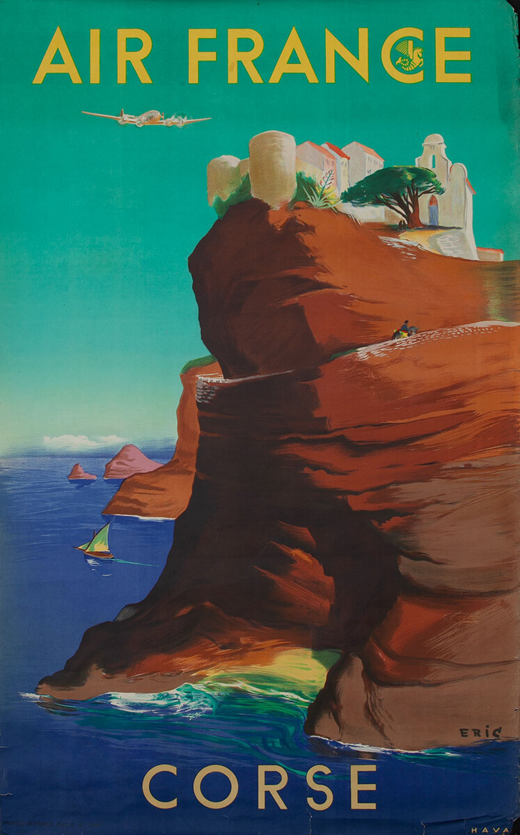 Air France Corse Travel Poster