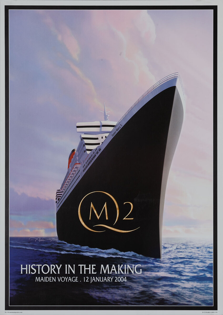 Cunard - History in the Making QM2 Queen Mary 2 Maiden Voyage