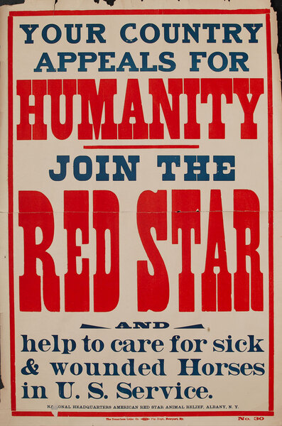 Your Country Appeals for Humanity - Join the Red Star WWI Poster