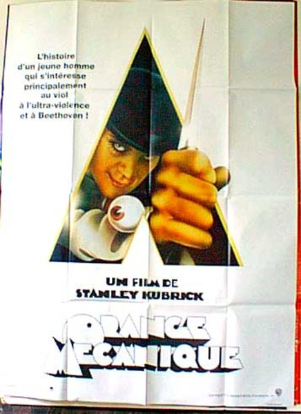 Clockwork Orange Original French Movie Poster