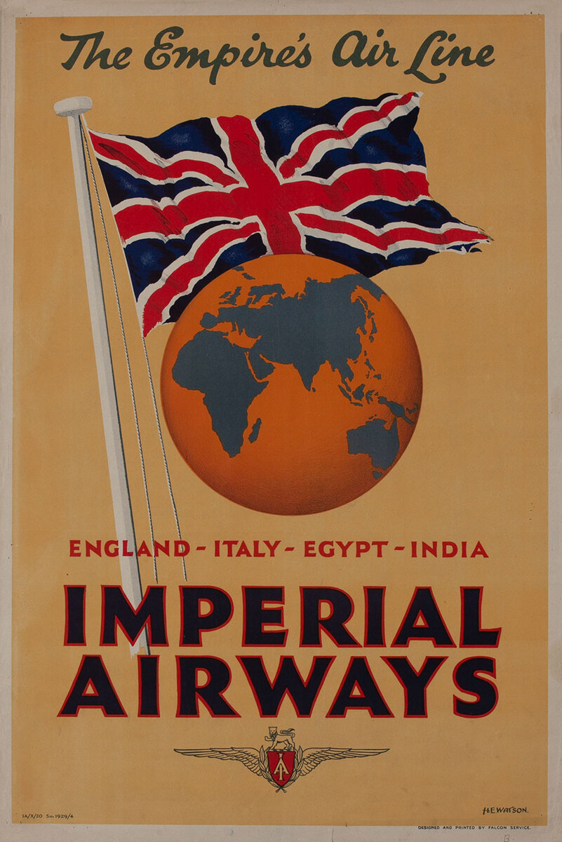 Imperial Airways The Empires's Air Line England - Italy - Egypt - India