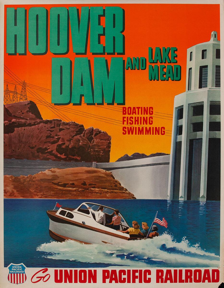 Hoover Dam and Lake Mead Go Union Pacific Railroad