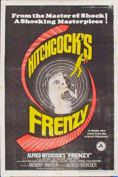 Alfred Hitchcock Frenzy 1 sheet Original Vintage Movie Poster Indian Release