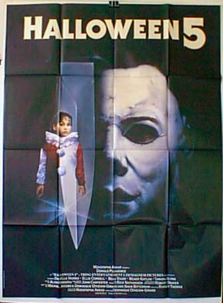 Halloween 5: The Revenge of Michael Myers Original French Movie Poster