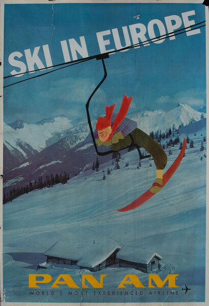 Ski In Europe - Pan Am World's Most Experienced Airline