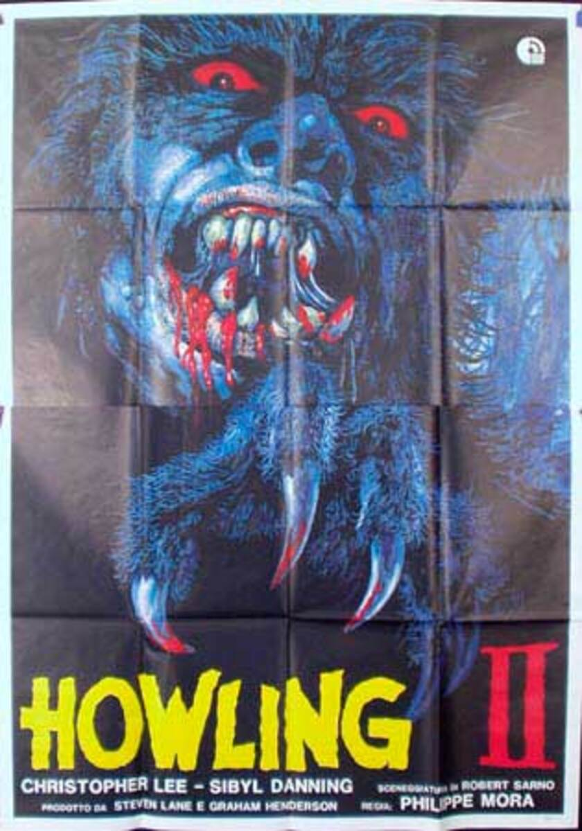 The Howling II  Original Vintage Movie Poster Italian Release