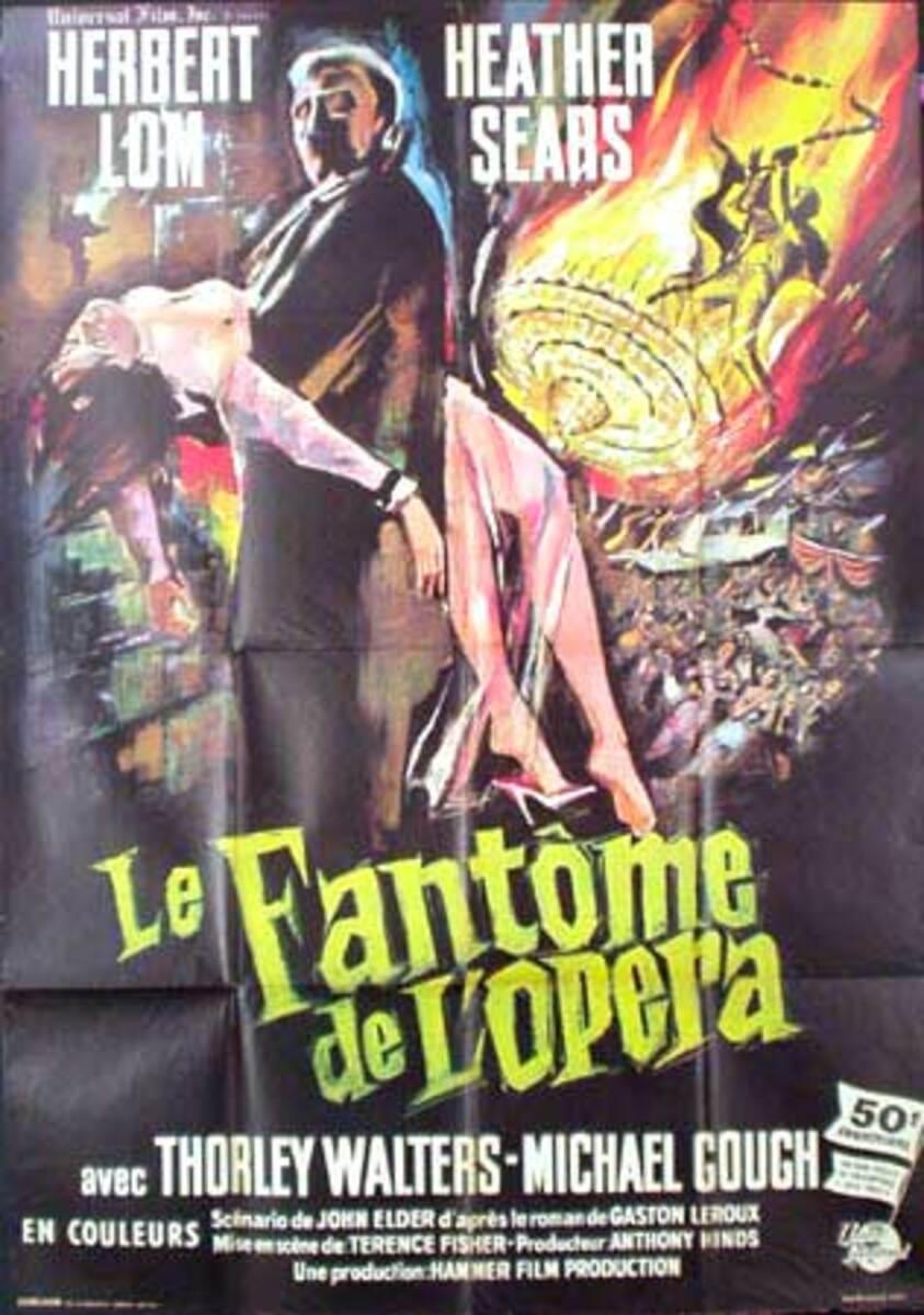 Phantom of the Opera French ReRelease Vintage Vintage Movie Poster