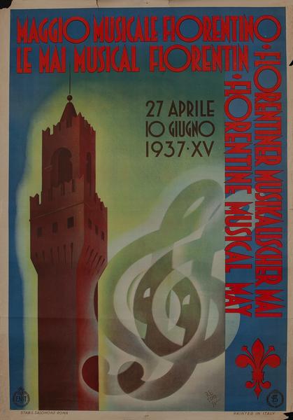 Florentine Musical May - Italian Travel Poster