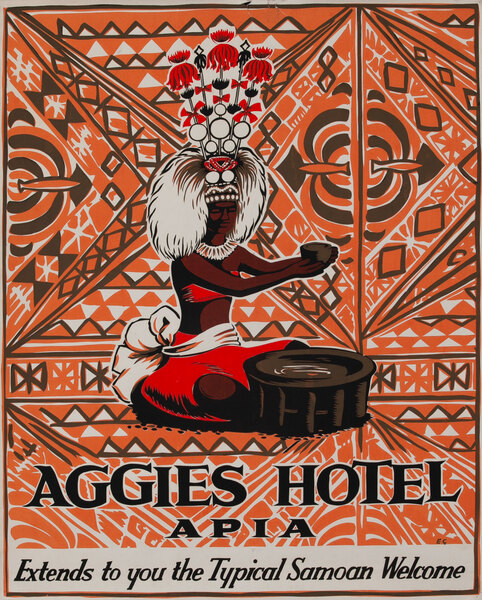 Aggies Hotel Apia, Samoan Travel Poster