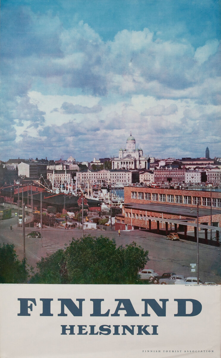 Finland Helsinki Travel Poster