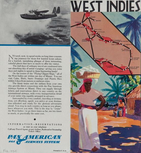 Pan American Airways Travel Brochure West Indies