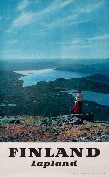 Finland Lapland Travel Poster