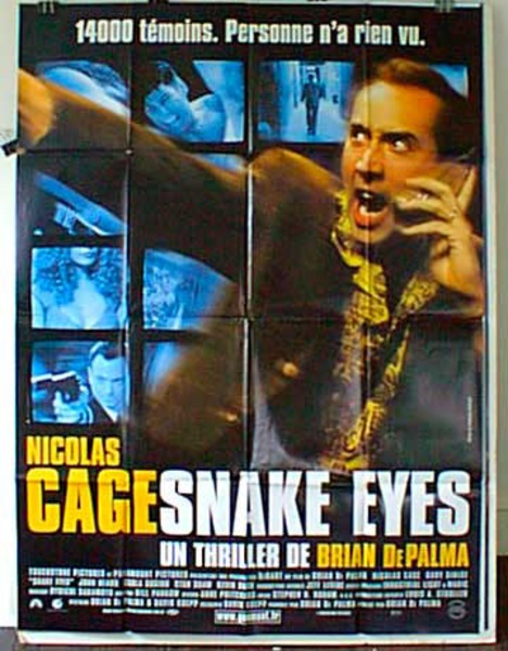 Snake Eyes Original French Movie Poster