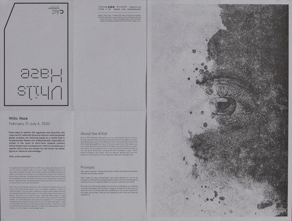 Vhils Haze Art Exhibit Poster