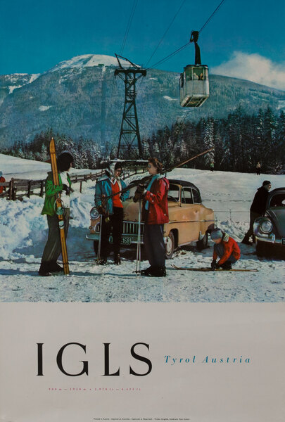 Igls Tyrol Austria - Travel Ski Poster