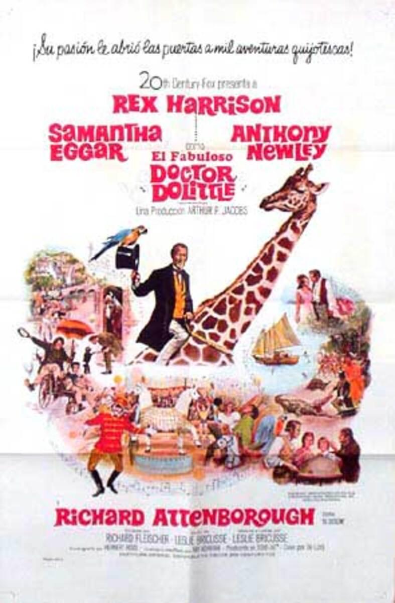 Dr. Dolittle Original Vintage Movie Poster Spanish Release