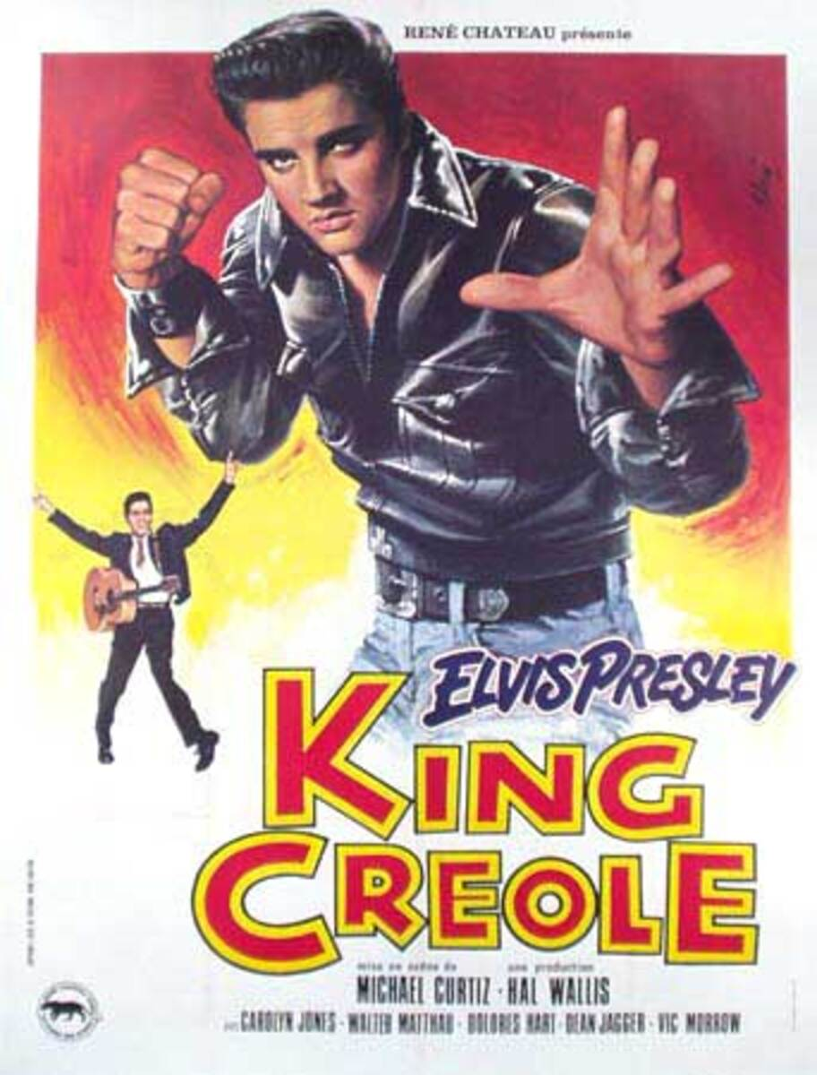 King Creole Original Vintage Elvis Presley Movie Poster French release