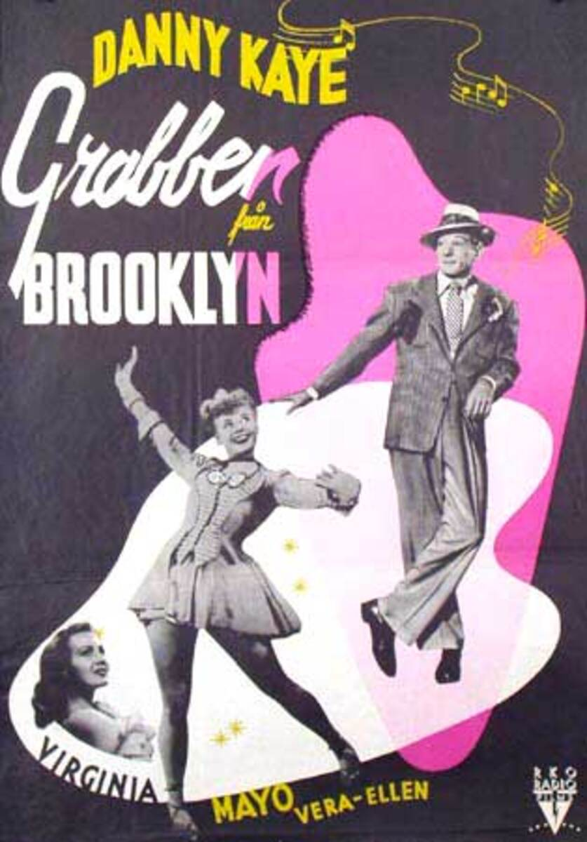 Danny Kaye Kid From Brooklyn Original Vintage Movie Poster Swedish Release