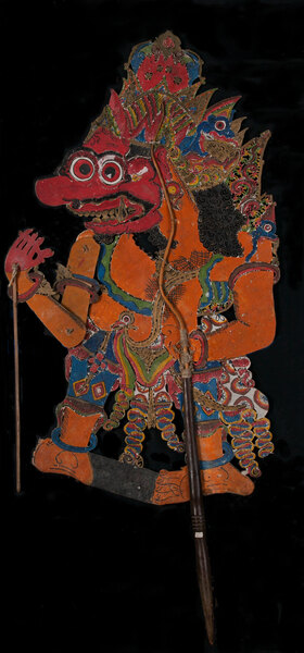 Indonesian Painted Leather Shadow Puppet