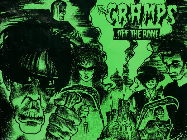 The Cramps .. the Bone Punk Rock Poster