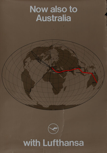 Now also to Australia with Lufthansa - Route map