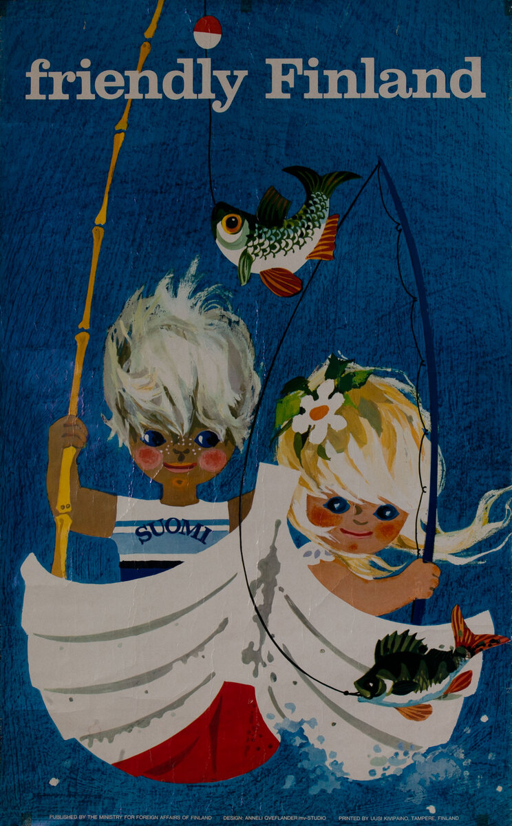 Friendly Finland - Suomi Kids in Boat