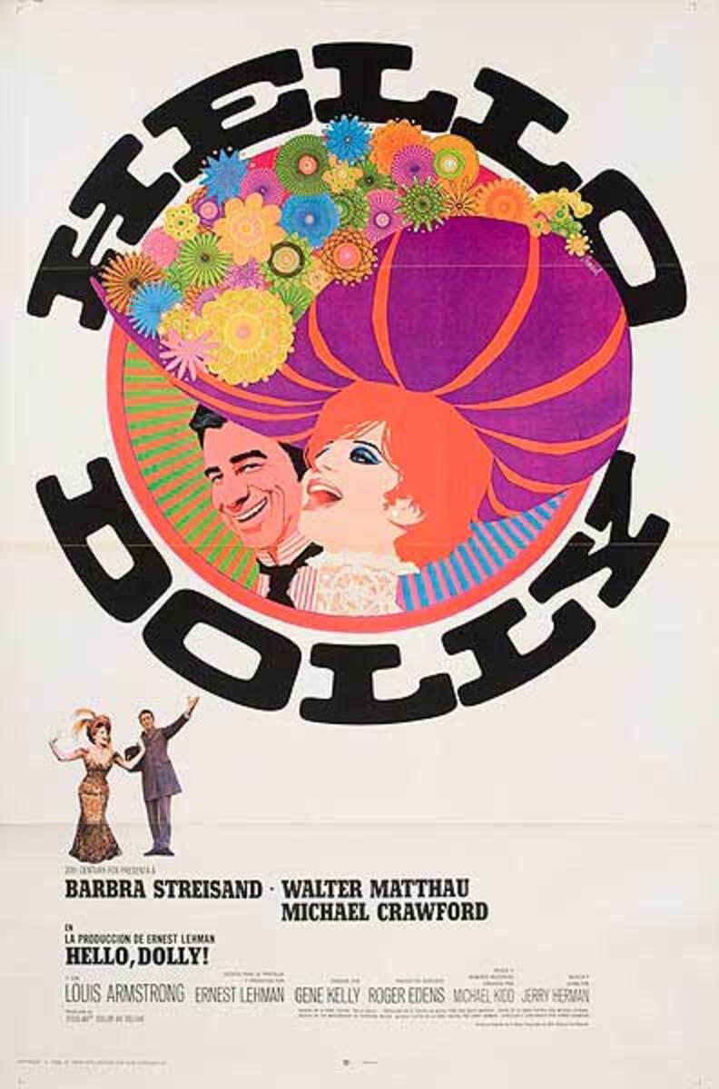 Hello Dolly Original Vintage Movie Poster Spanish Release