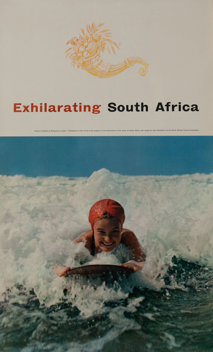 Exhilarating South Africa Surfer Poster