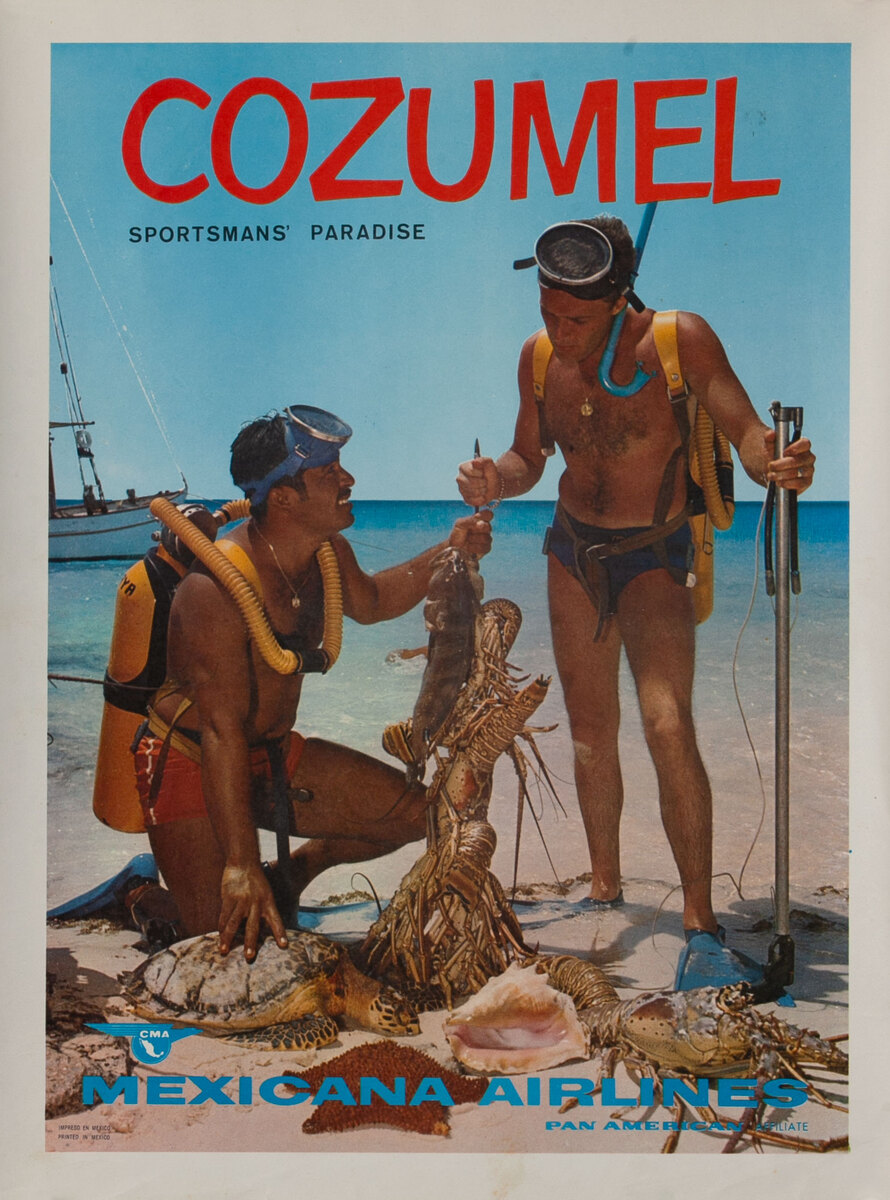 Cozumel Sportsmans' Paradise Mexicana Airlines Pan American  Affiliate