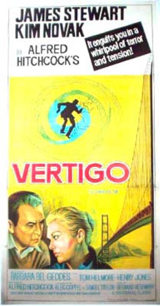 Vertigo 3 sheet Indian release Vintage Original Movie Poster