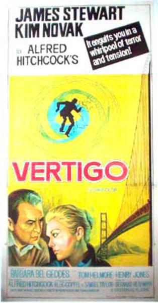 Vertigo 3 sheet Indian release Vintage Original Movie Poster