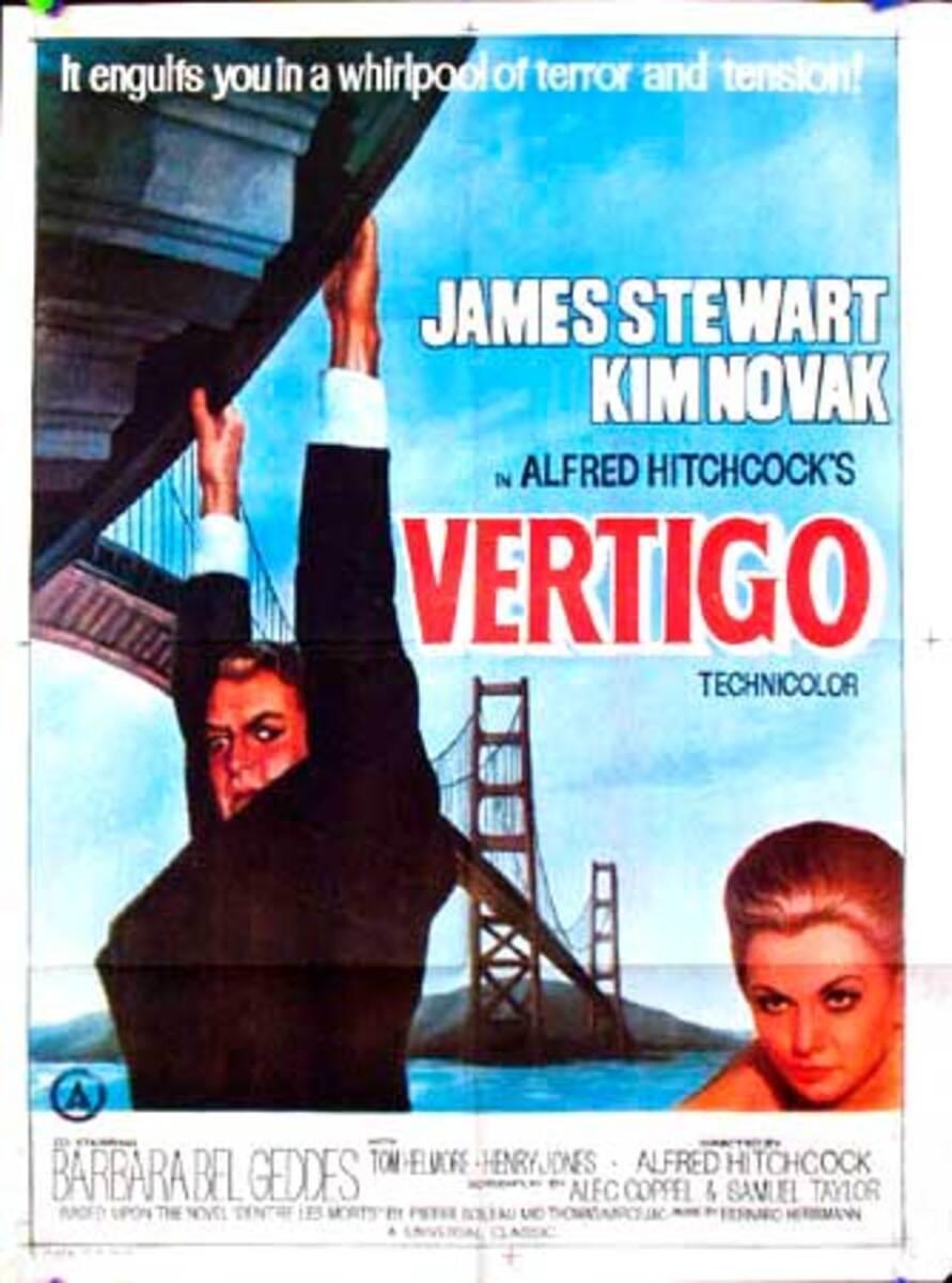 Alfred HitchcockVertigo 1 sheet Original Vintage Movie Poster Indian Release