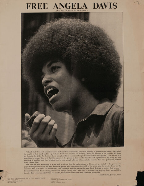 Free Angela Davis and other Political Prisoners - Civil Rights Poster